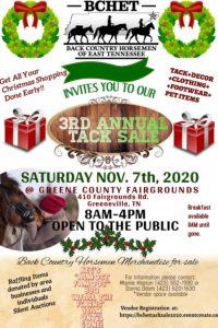 3rd Annual BCHET Tack Sale @ Greene County Fairgrounds